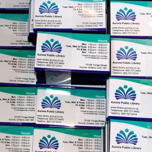 Business Card Fridge Magnets