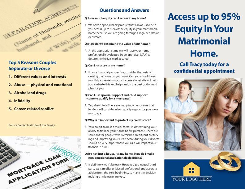 Mortgage Marketing Divorce Brochure