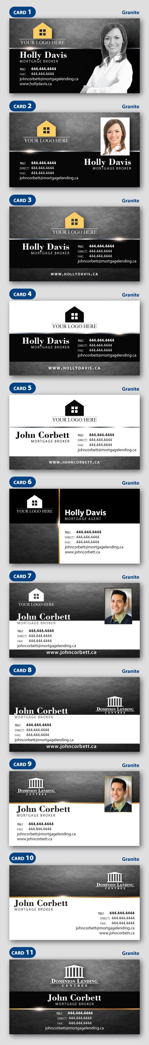 Granite Business Card Templates